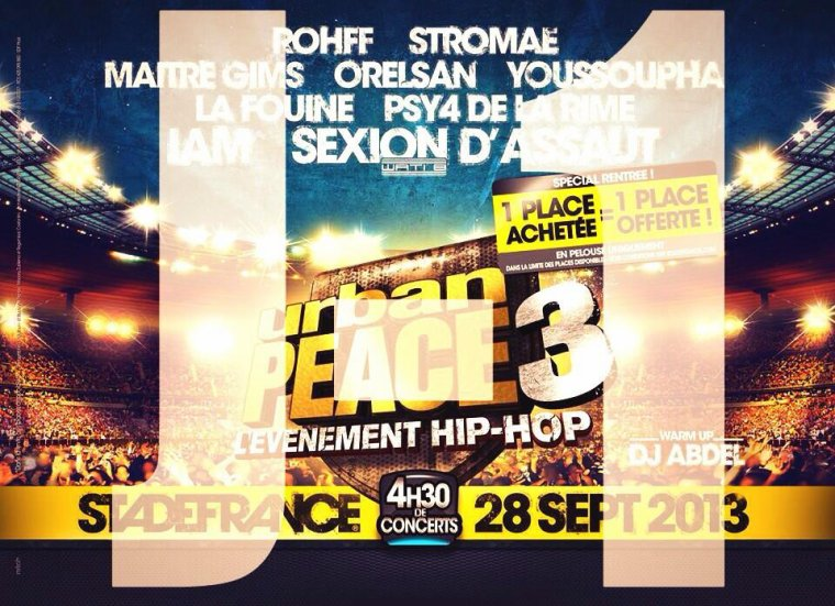 EVENEMENT : J-1 avant Urban Peace 3 au Stade de France avec @SkyrockFm