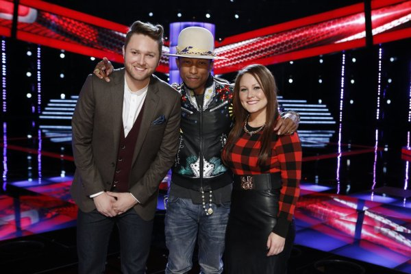 Pharrell -The Voice Live - Hollywood - 18 novembre 2014