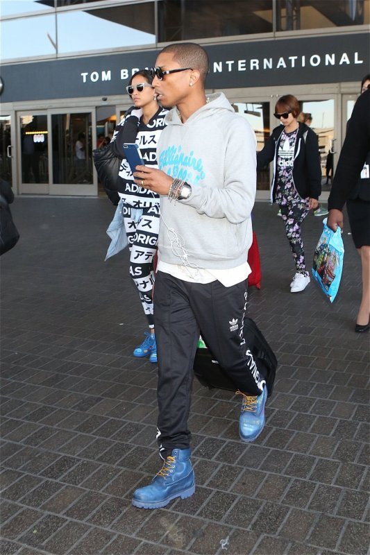 Helen & Pharrell - LAX Airport - Los Angeles - 23 novembre 2014
