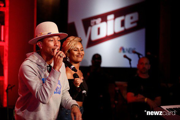 Pharrell -The Voice Live - Hollywood - 8 d�cembre 2014
