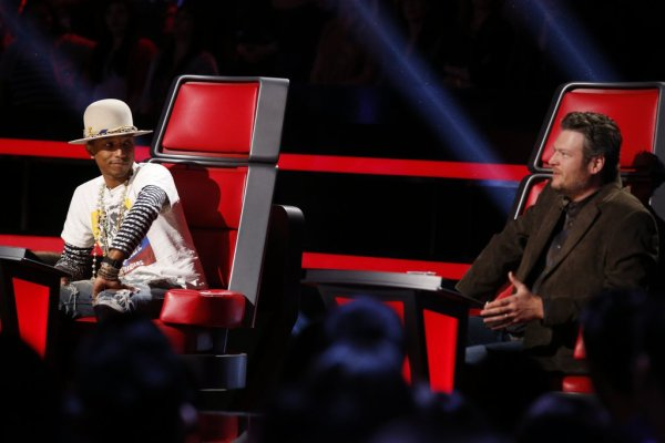 Pharrell -The Voice Live - Hollywood - 9 d�cembre 2014