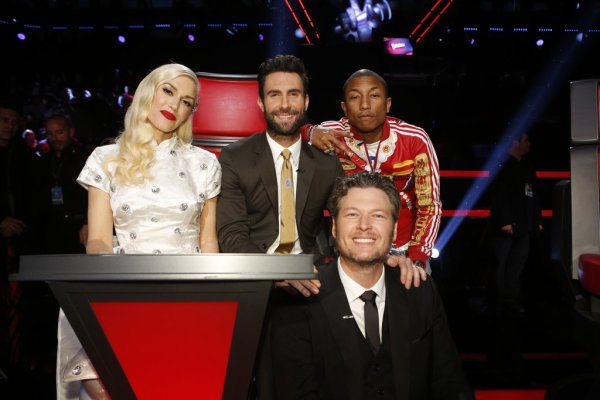 Pharrell -The Voice Live - Hollywood - 16 d�cembre 2014