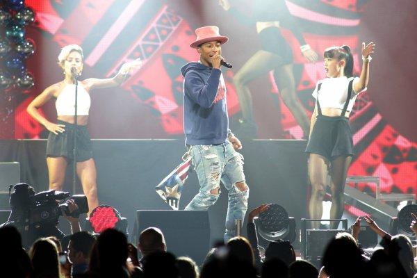 Pharrell and The Baes - Y100's Jingle Ball - Miami, FL - 21 d�cembre 2014
