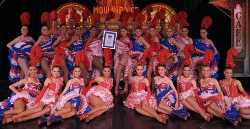 Robe cancan moulin rouge