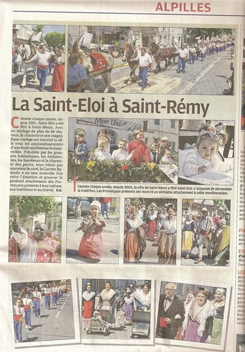 Article journal La Provence du lundi 27 mai 2013