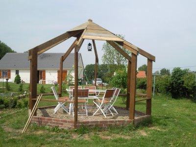 construction d 39 un kiosque octogonale blog de macon professionnel. Black Bedroom Furniture Sets. Home Design Ideas
