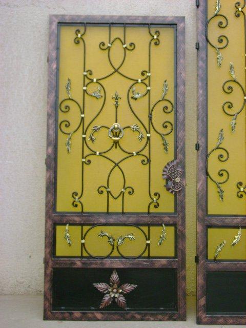 Porte d entree fer forge avec plastiglas jaune blog de fitoart for Porte fer forge tunisie