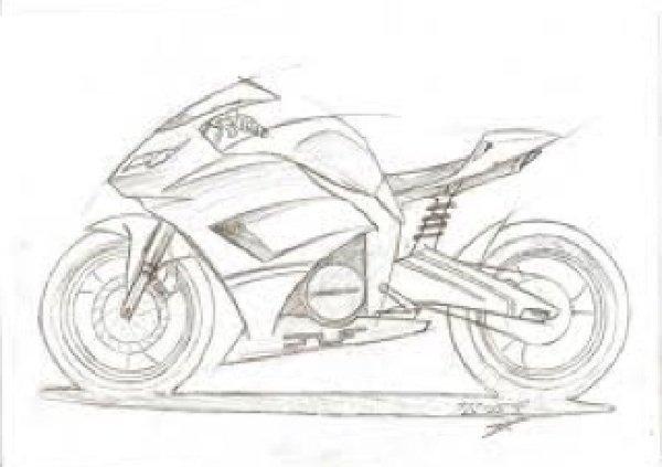 Petit dessin de moto the blackgun64 - Dessin moto sportive ...