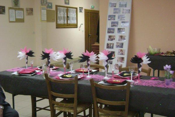 Decoration De Table Rose Noir Et Blanc Blog De Decoration 03