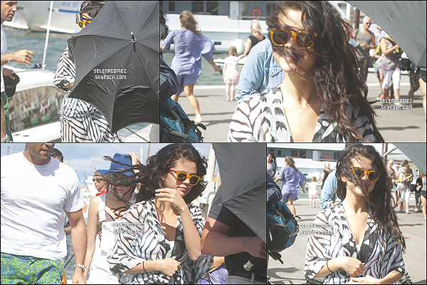 # 21/07/14 - Apr�s l'Italie c'est en France, � Saint-Tropez, qu'on retrouve Selena !  #