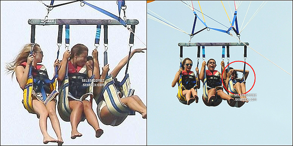 # 22/07/14 - Miss Gomez faisant du parachute ascensionnel � Saint-Tropez en France + photo de son g�teau d'anniversaire   #
