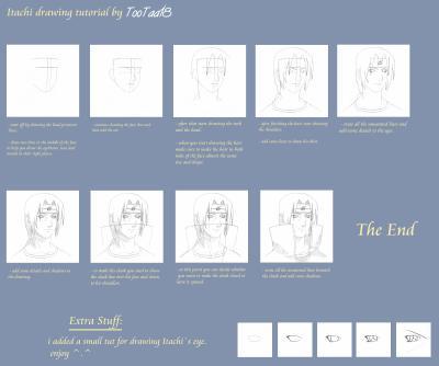 comment dessiner itachi