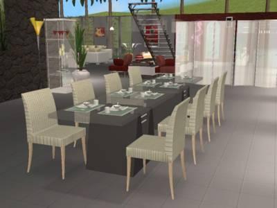 La salle manger alyssa et les millionaires version sims for Salle a manger sims 4