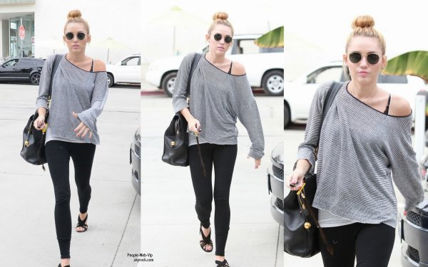miley cyrus aper u dans les rues de la californie pour se rendre a un cours de pilates jeudi. Black Bedroom Furniture Sets. Home Design Ideas