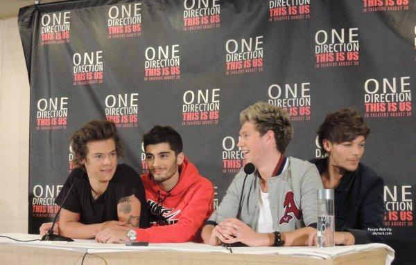 Les Gar On Des One Direction Aper Us Une Conf Rence De Presse Pour Leur Pro