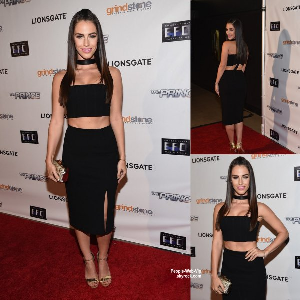 "Jessica Lowndes a �t� aper�ue � la premi�re de son nouveau film ""The Prince"" au TCL Chinese 6 Theatre ( lundi soir (18 Ao�t) � Hollywood. )"