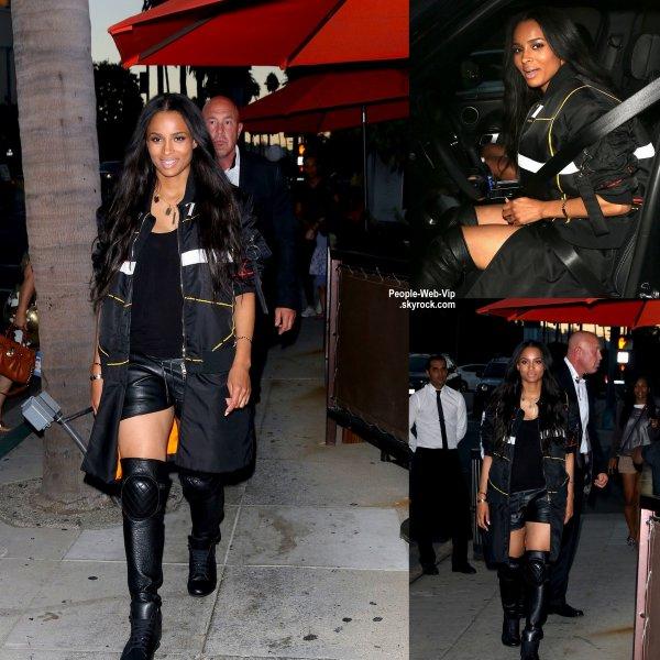 La chanteuse et maman, Ciara se pavane dans les rues de Beverly Hills, en Californie.  ( jeudi soir (28 Ao�t)