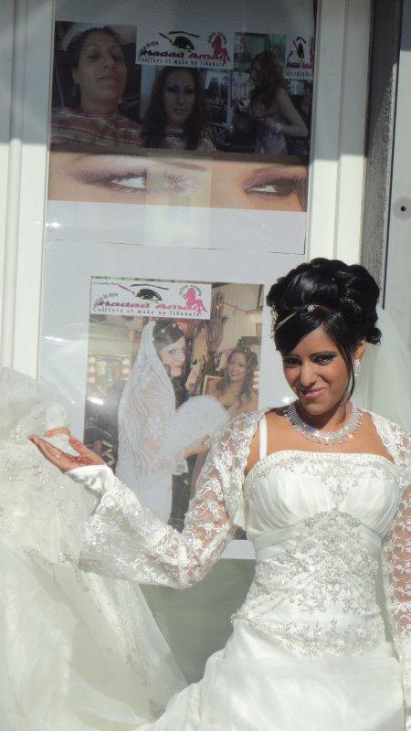 Coiffure maquillage libanais mari e maquillage libanais et coiffure by hadad amal cr - Coiffure mariage detache ...
