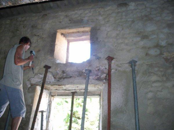Hier changement d 39 un linteau de fen tre blog de renov for Linteau de fenetre