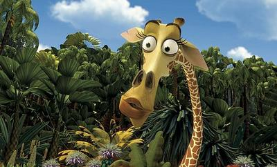 Melman la girafe brillante brunette - Girafe dans madagascar ...