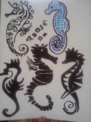 hippocampe tatouages blog de dessins d oliver. Black Bedroom Furniture Sets. Home Design Ideas