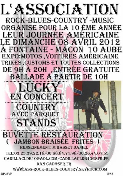 Journ�e Am�ricaine et Country � Fontaine- Macon Aube 10 le 08 Avril 2012