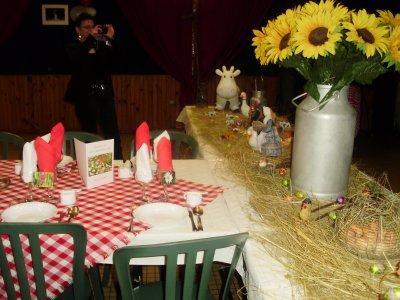 Notre d coration table blog du fcba - Deco campagnarde ...
