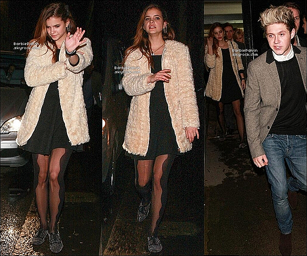 31/12/13 : Barbara P. quittant le concert de Gary Barlow en compagnie de Niall Horan, � Londres. Sa tenue est parfaite tout comme elle. Les rumeurs entre Niall et Barbara continuent de s'emplifier. Votre avis ?!
