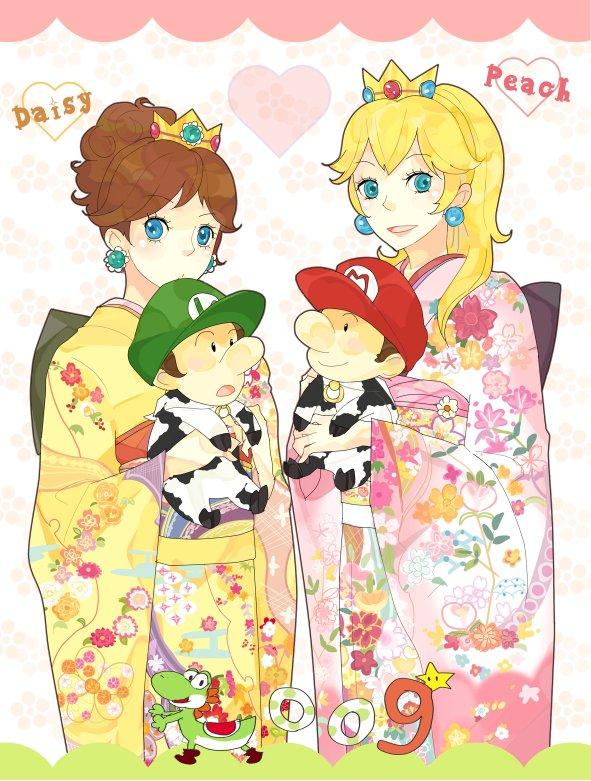 Daisy et peach et b b luigi et b b mario blog de - Bebe mario et bebe luigi ...
