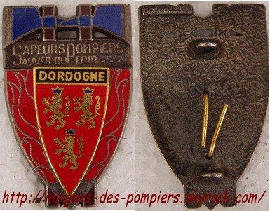 Insignes des pompiers de la DORDOGNE (24)