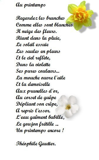 Poesie maurice careme rencontre printemps