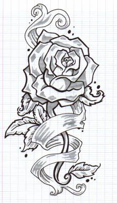 tattoo rose parchemin x c 39 est moi l 39 artiste x. Black Bedroom Furniture Sets. Home Design Ideas