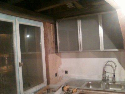 Blog de mamaisonbois page 41 ma maison bois Meuble haut cuisine porte vitree avec etage