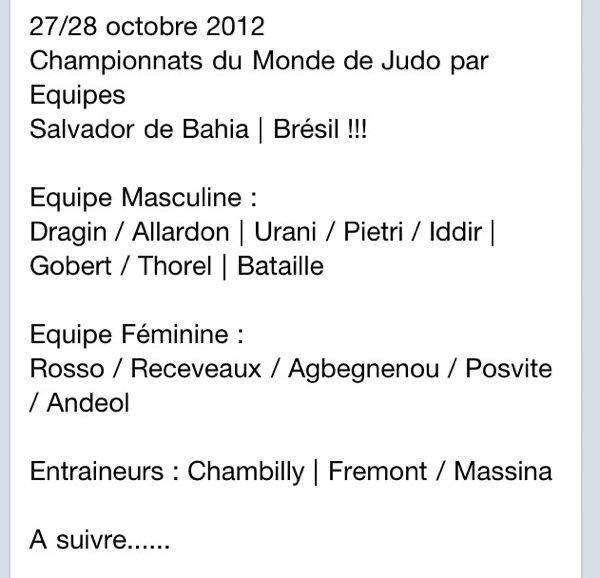 Chpts du Monde 2012