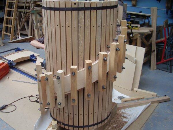Maquette escalier lamell coll blog de formationbois - Assemblage lamelle colle ...