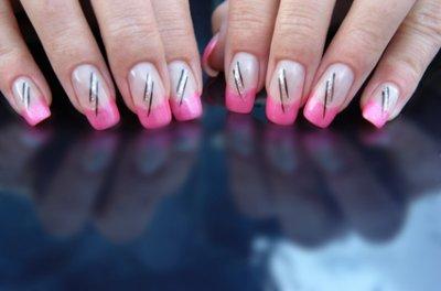 French Gel uv Rose Nail Art
