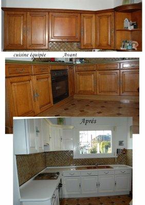 Cuisine quip e avant apr s amphora artisan meubles - Relooking cuisine avant apres ...