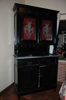 Buffet 2 corps style henri ii avant amphora artisan meubles peints relooking - Auto entrepreneur relooking meuble ...