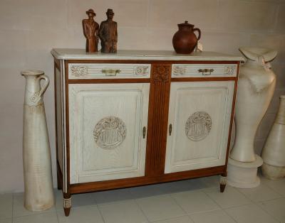 Meuble bas 2 portes relook amphora artisan meubles peints relooking - Auto entrepreneur relooking meuble ...