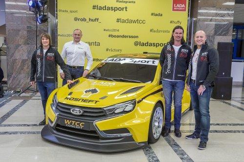 Les pilotes LADA Sport Rosneft impatients de d�buter 2015 en LADA VESTA !!!