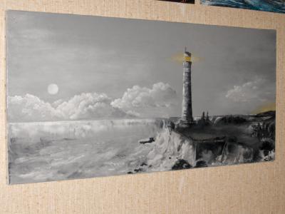 Peinture huile sur toile sp ciale dessin la bombe a rosol for Peindre a la bombe
