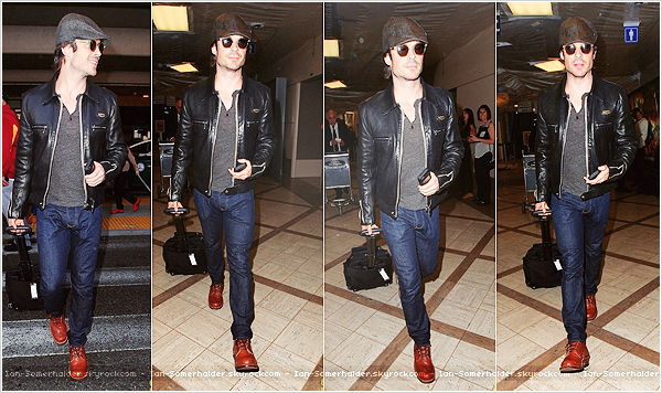 16.04.14 - Ian �tait pr�sent au lancement du septi�me num�ro de Treats Magazine � Los Angeles. Awesome !