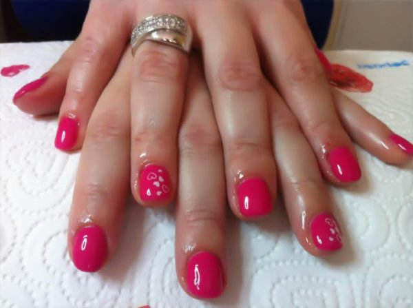 vernis semi permanent rose barbie et petits c ur konad blog de posedongle06. Black Bedroom Furniture Sets. Home Design Ideas