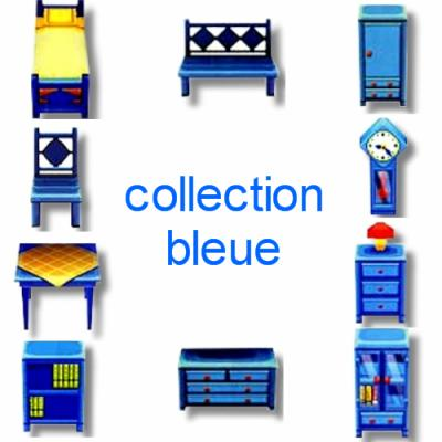 collection bleue les meubles du jeu animal crossing wild world. Black Bedroom Furniture Sets. Home Design Ideas