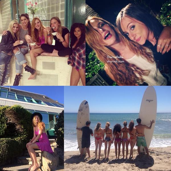 Bella a �t� vu � la plage de Malibu le 17 ao�t avec sa famille et ses amis.