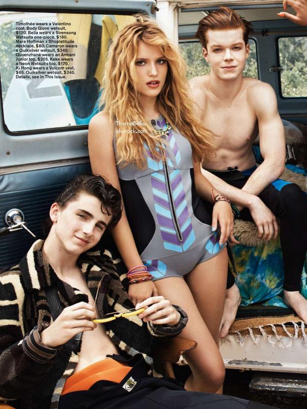 Scans du magazine Teen Vogue du mois d'octobre.