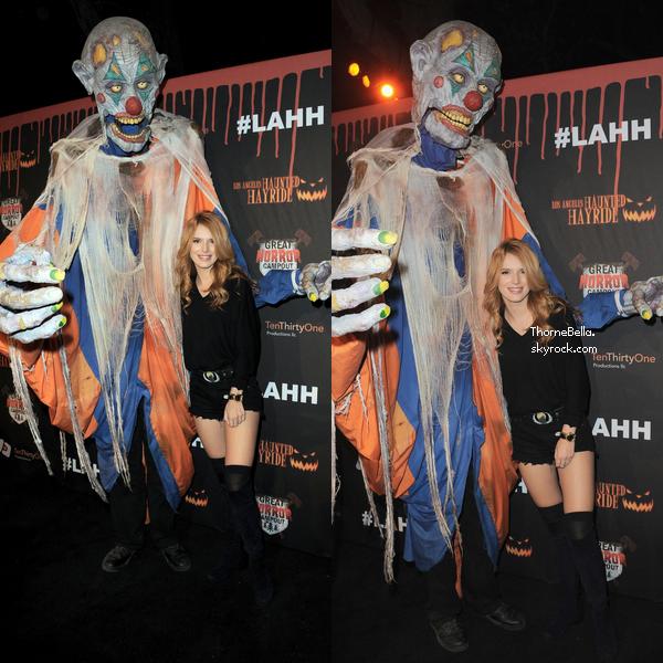 Bella � la 6�me c�r�monie des Haunted Hayride le 9 octobre.