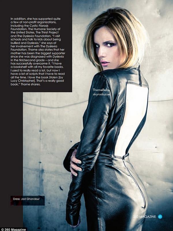 D�couvez le shoot de Bella pour 360 magazine. Qu'en pensez-vous?