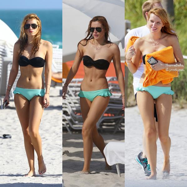Bella � la plage de Miami le 17 novembre.