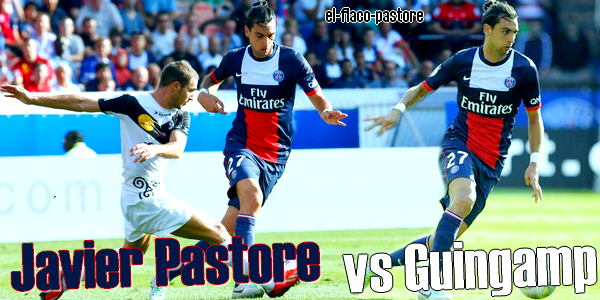 4�me journ�e de L1, Paris Saint-Germain - Guingamp : 2-0 (0-0)